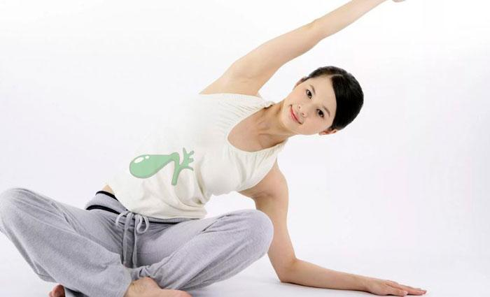 упражнения при загибе желчного