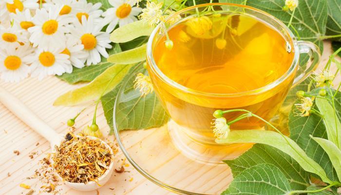 Чай из ромашки и липы