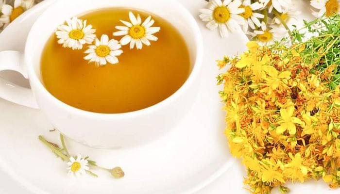 Чай из ромашки со зверобоем