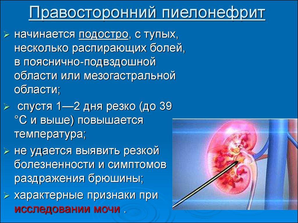 Правосторонний пиелонефрит - определение и анатомия