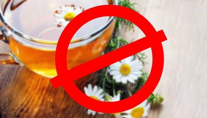 Запрет ромашковый чай
