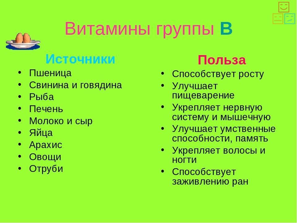 B витамины - источники и польза