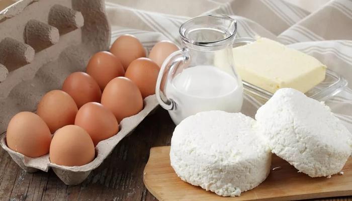 Молочка и яйца