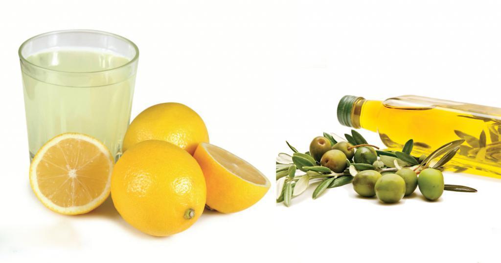 Сок лимона и оливковое масло