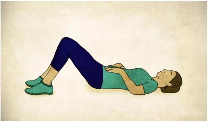 Упражнение при диастазе наклон таза