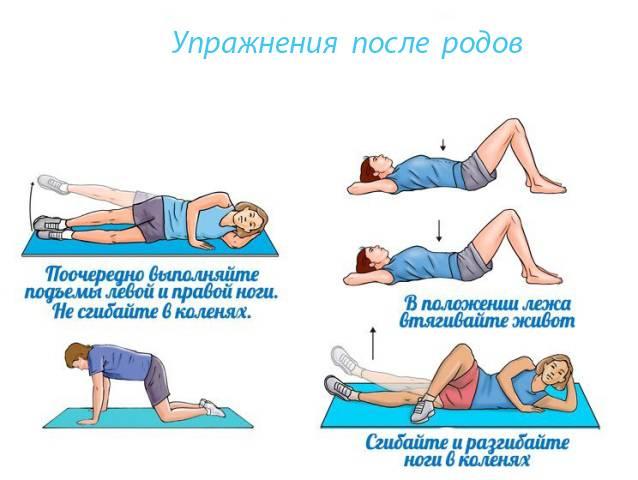 Гимнастика для живота после родов