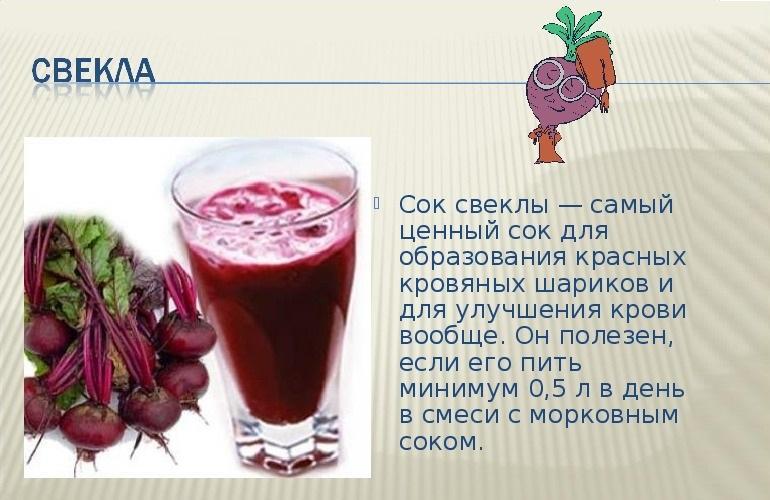 Польза сока из свеклы