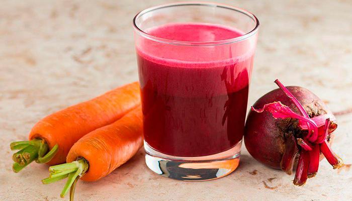 Морковный и свекольный сок