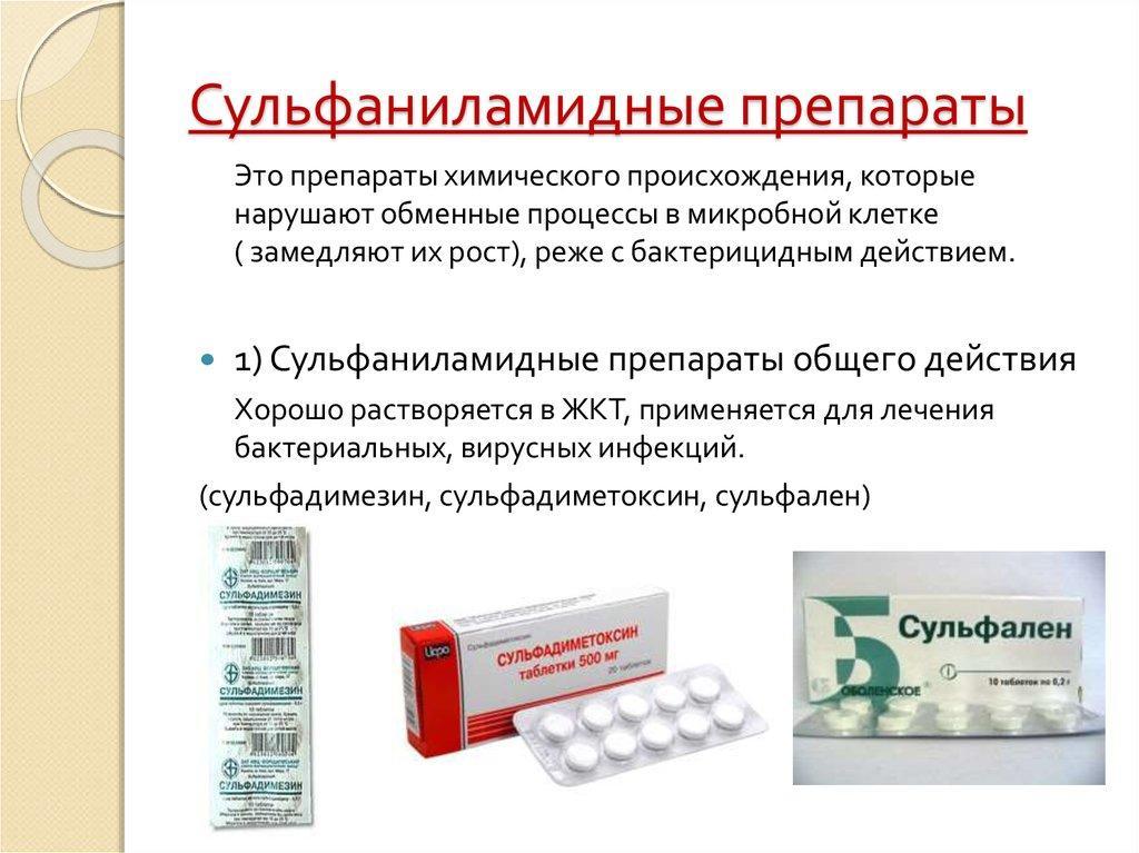 Сульфаниламиды средства