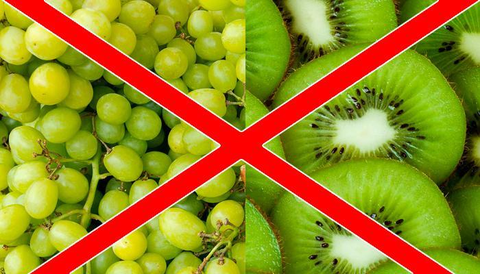 Не рекомендованные фрукты для печени